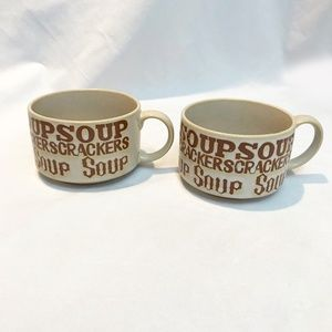 Vintage Ceramic Soup Bowls From The 70's